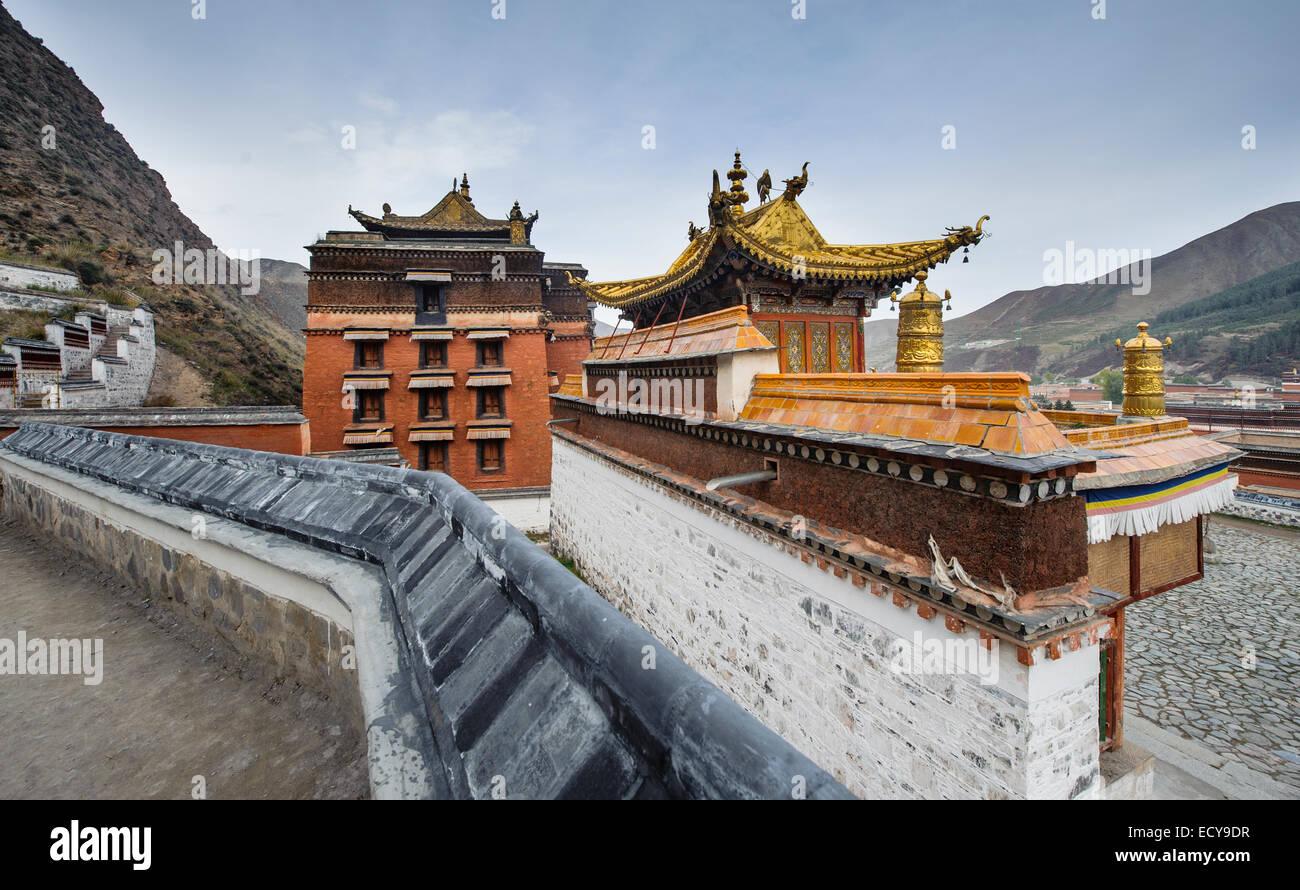 Labrang Monastery, Gansu Province, China - Stock Image