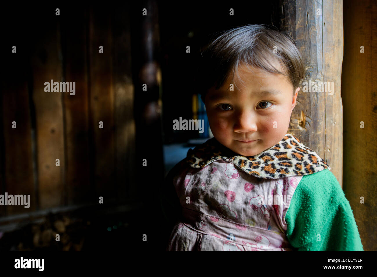 Girl of the traditional village of Guizhou province, China Stock Photo
