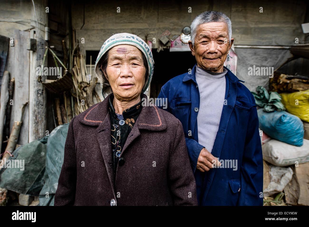 Ethnic minority peasants, Guizhou province, China - Stock Image