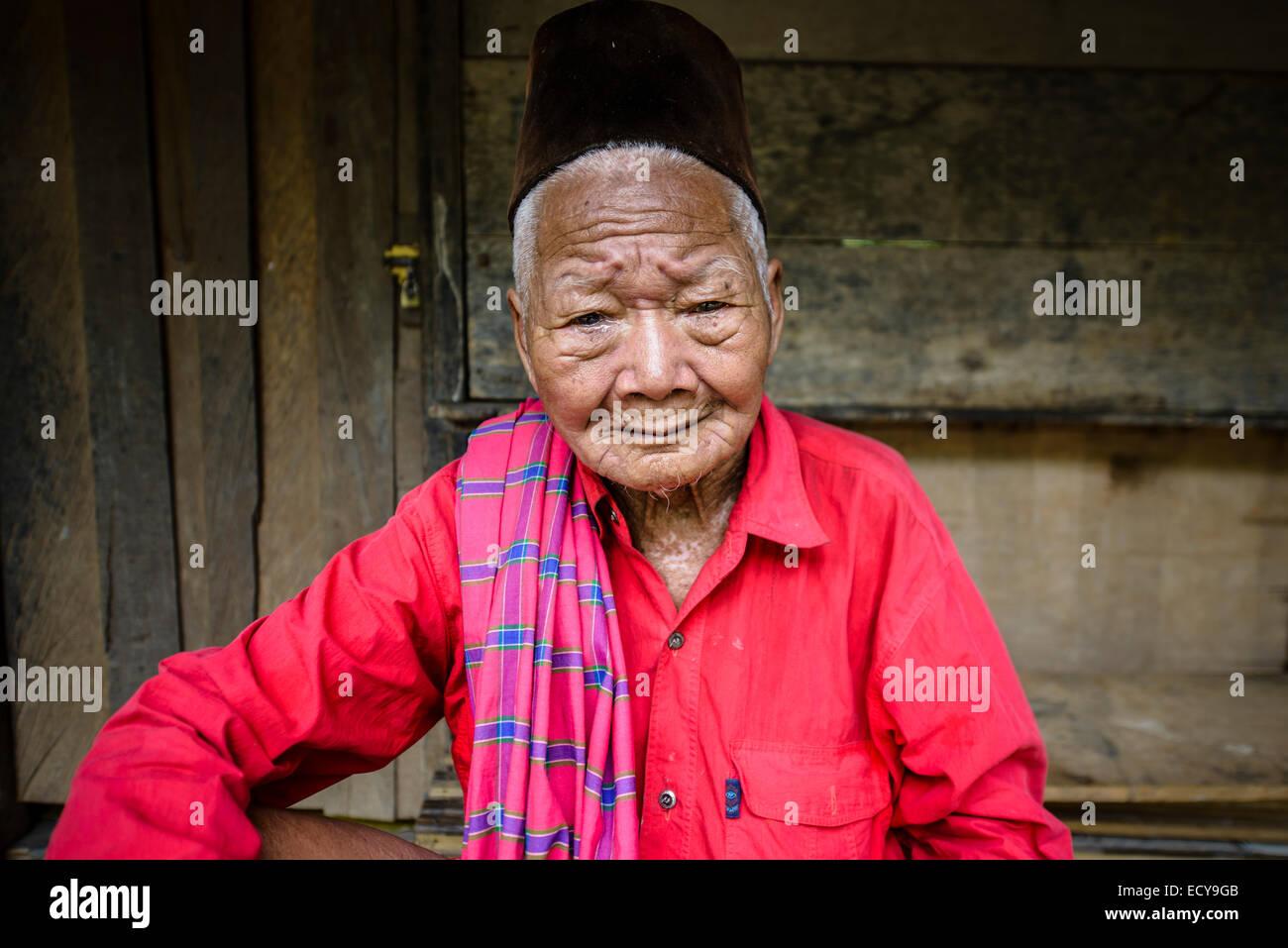 Toraja man, Sulawesi, Indonesia - Stock Image