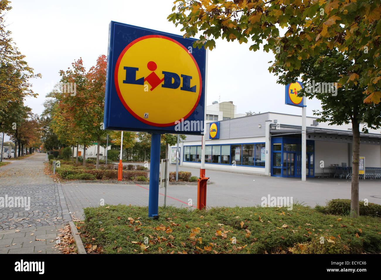 lidl supermarket store germany munich europe Stock Photo