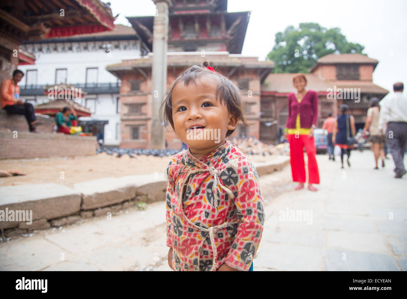 Nepal girl mother baby stock photos nepal girl mother baby stock young girl in kathmandu durbar square nepal stock image ccuart Images