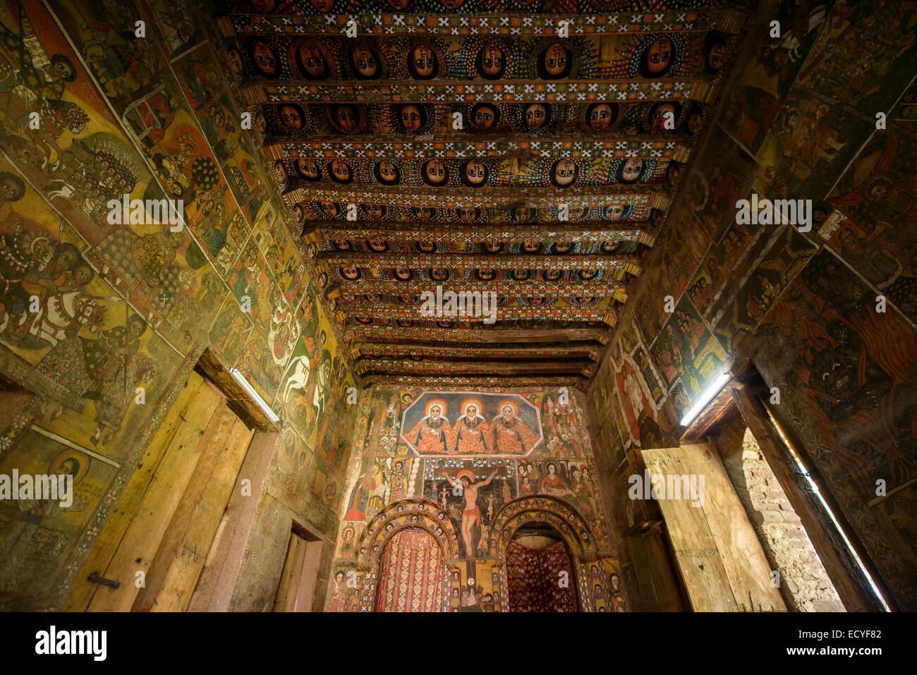 Debre Birhan Selassie church, Gondar, Ethiopia - Stock Image