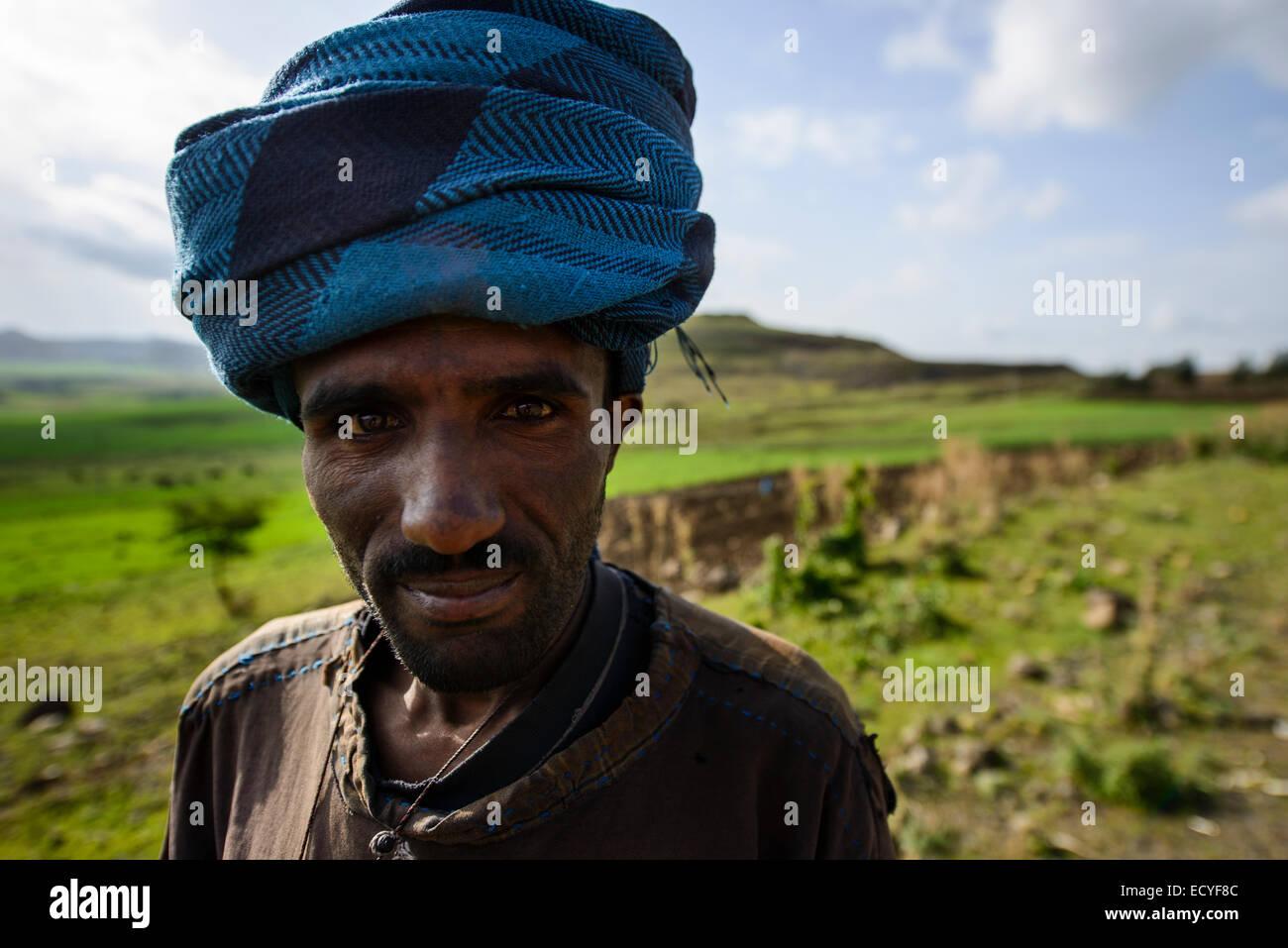 Ethiopian farmer, Northern Ethiopia - Stock Image
