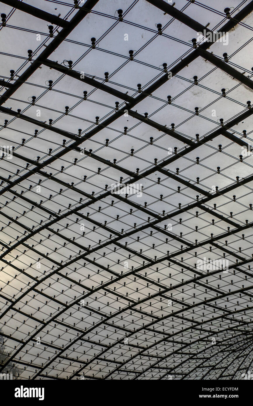 munich olympic park acrylic glass roof - Stock Image