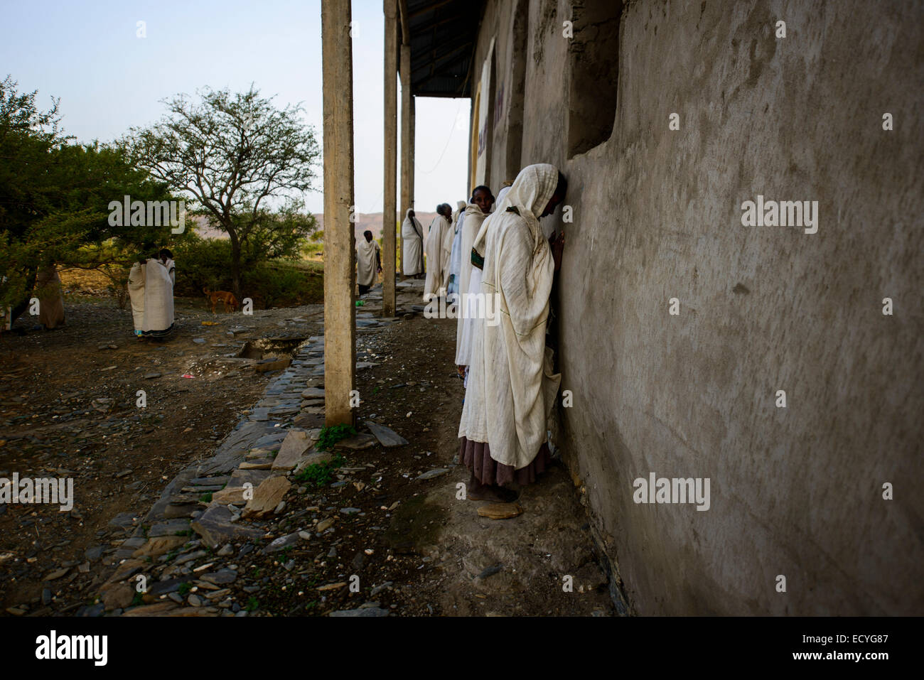 Followers of the Ethiopian Orthodox church, Ethiopia - Stock Image