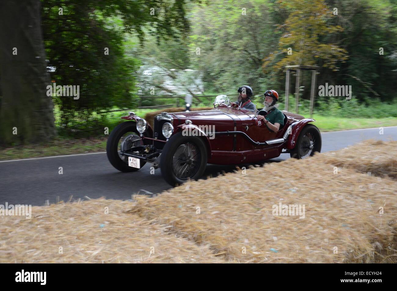 1930s racer at Classic Days 2014 at Dyck Castle near Düsseldorf, North Rhine Westphalia, Germany, Europe - Stock Image