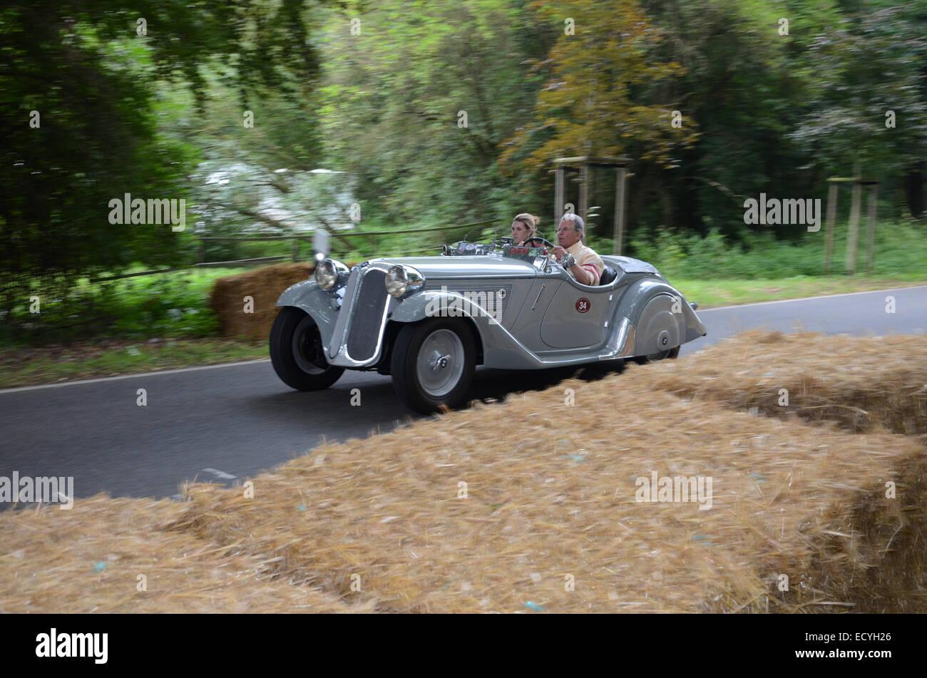 1930s Frazer-Nash BMW 315 at Classic Days 2014 at Dyck Castle near Düsseldorf, North Rhine Westphalia, Germany, - Stock Image