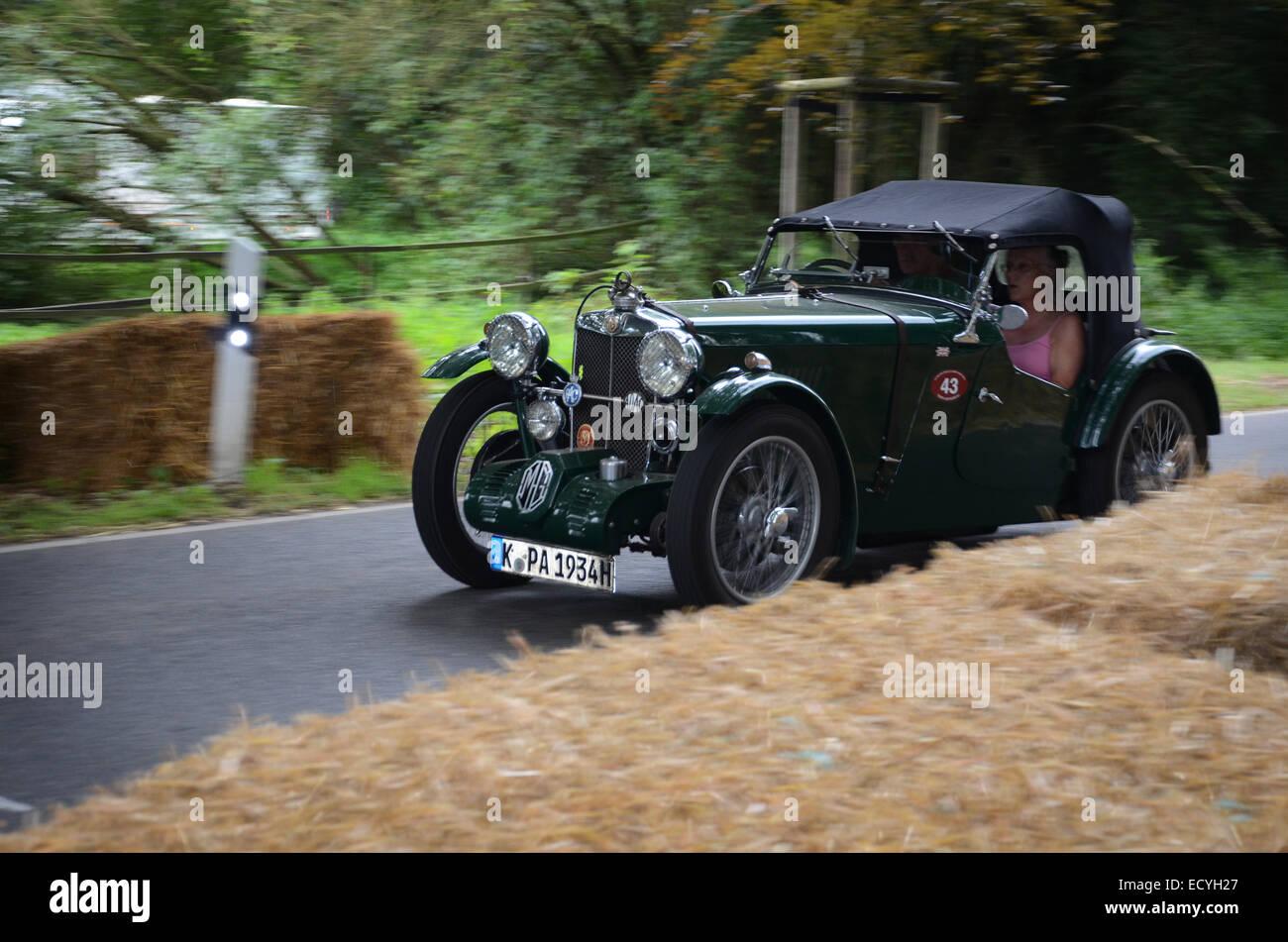 supercharged 1930s MG PA at Classic Days 2014 at Dyck Castle near Düsseldorf, North Rhine Westphalia, Germany, - Stock Image