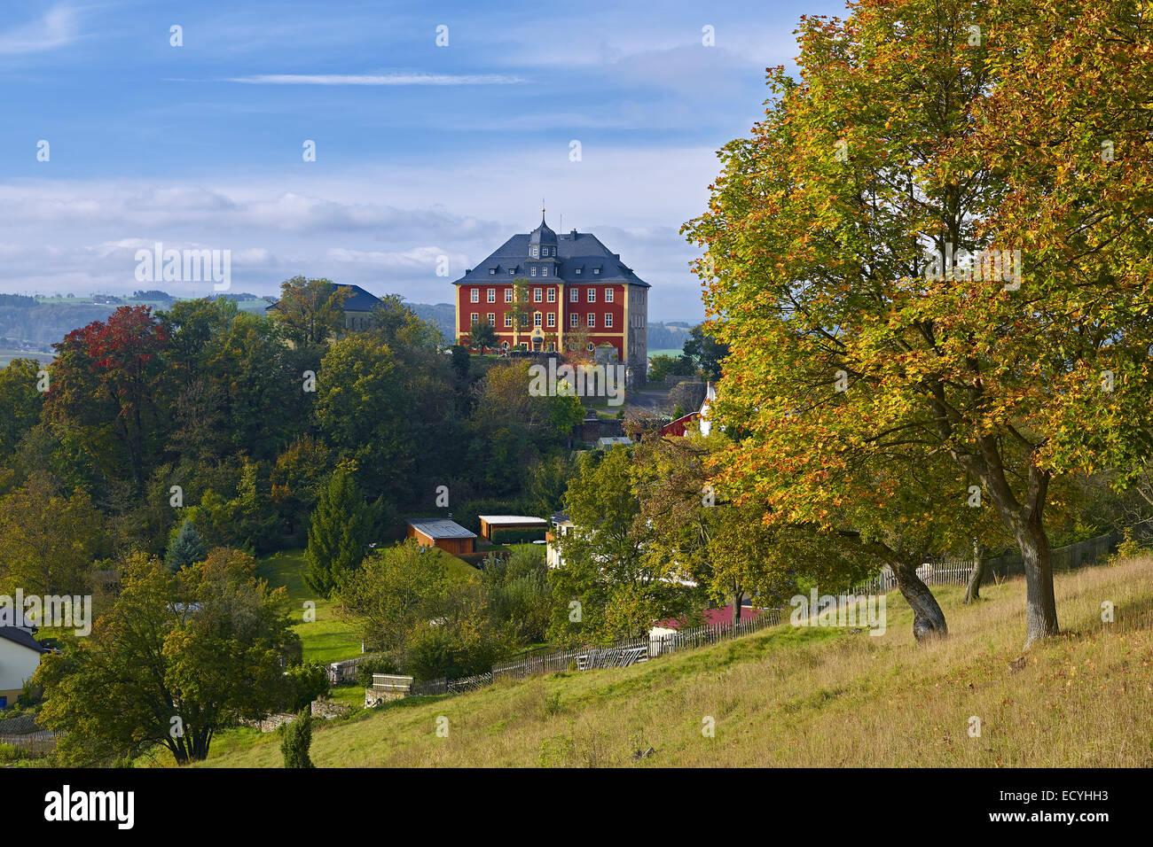 Castle Brandenstein near Ranis, Thuringia, Germany - Stock Image