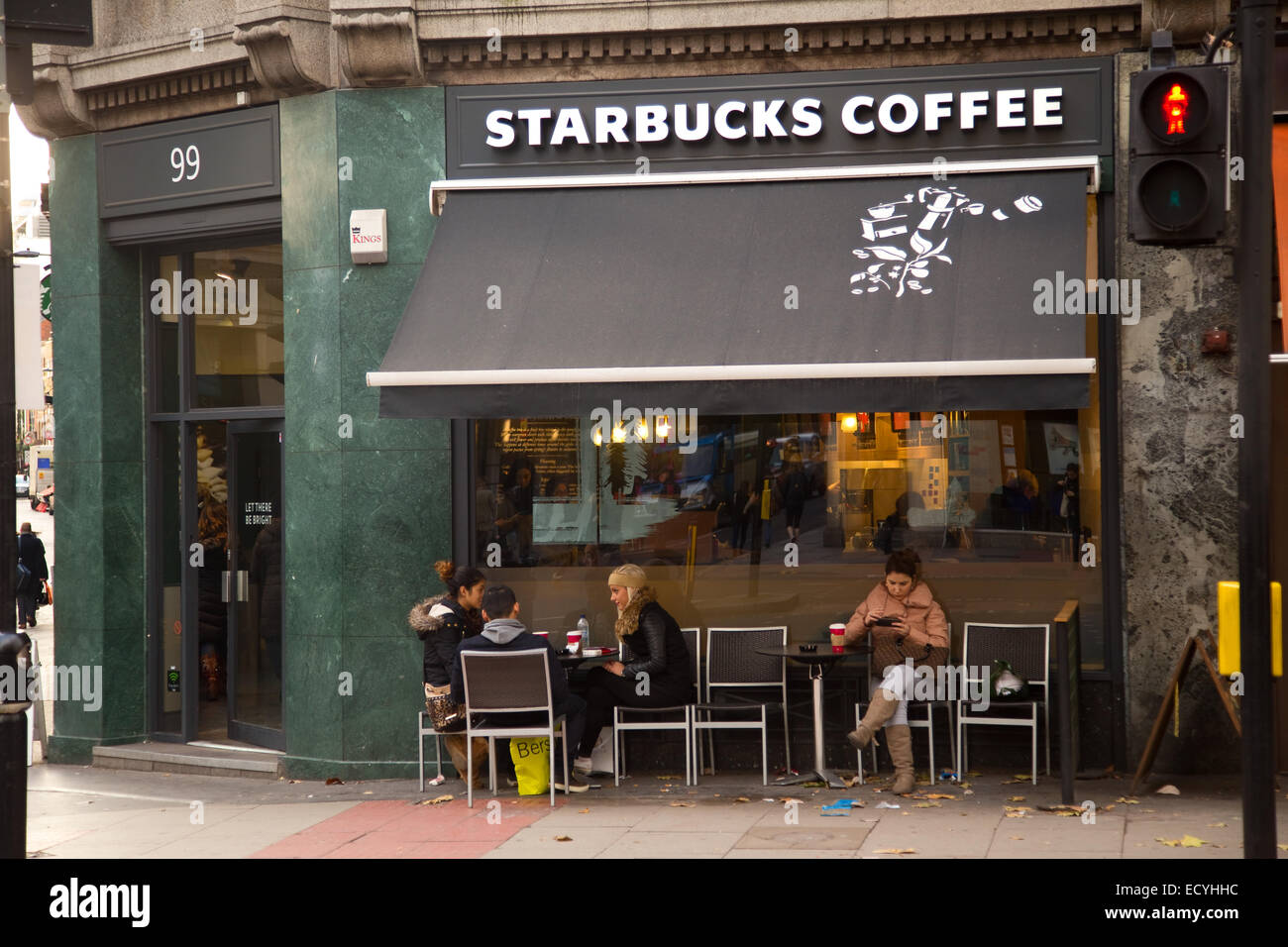 London December 11th The Exterior Of A Starbucks Coffee Shop On Stock Photo 76823864 Alamy