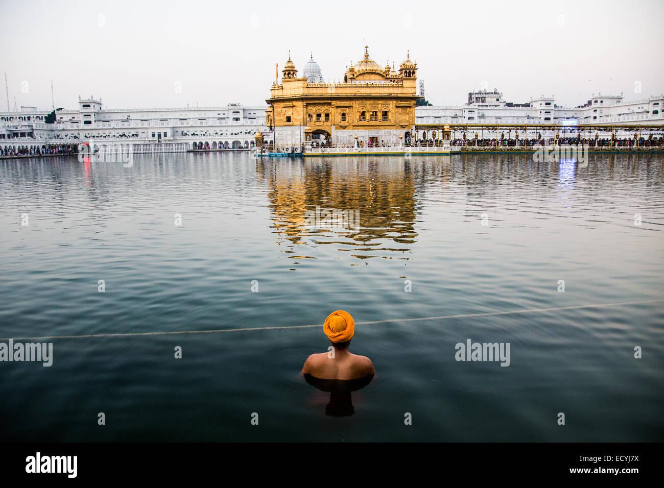 Golden Temple or Harmandir Sahib Sikh Temple in Amritsar, India Stock Photo
