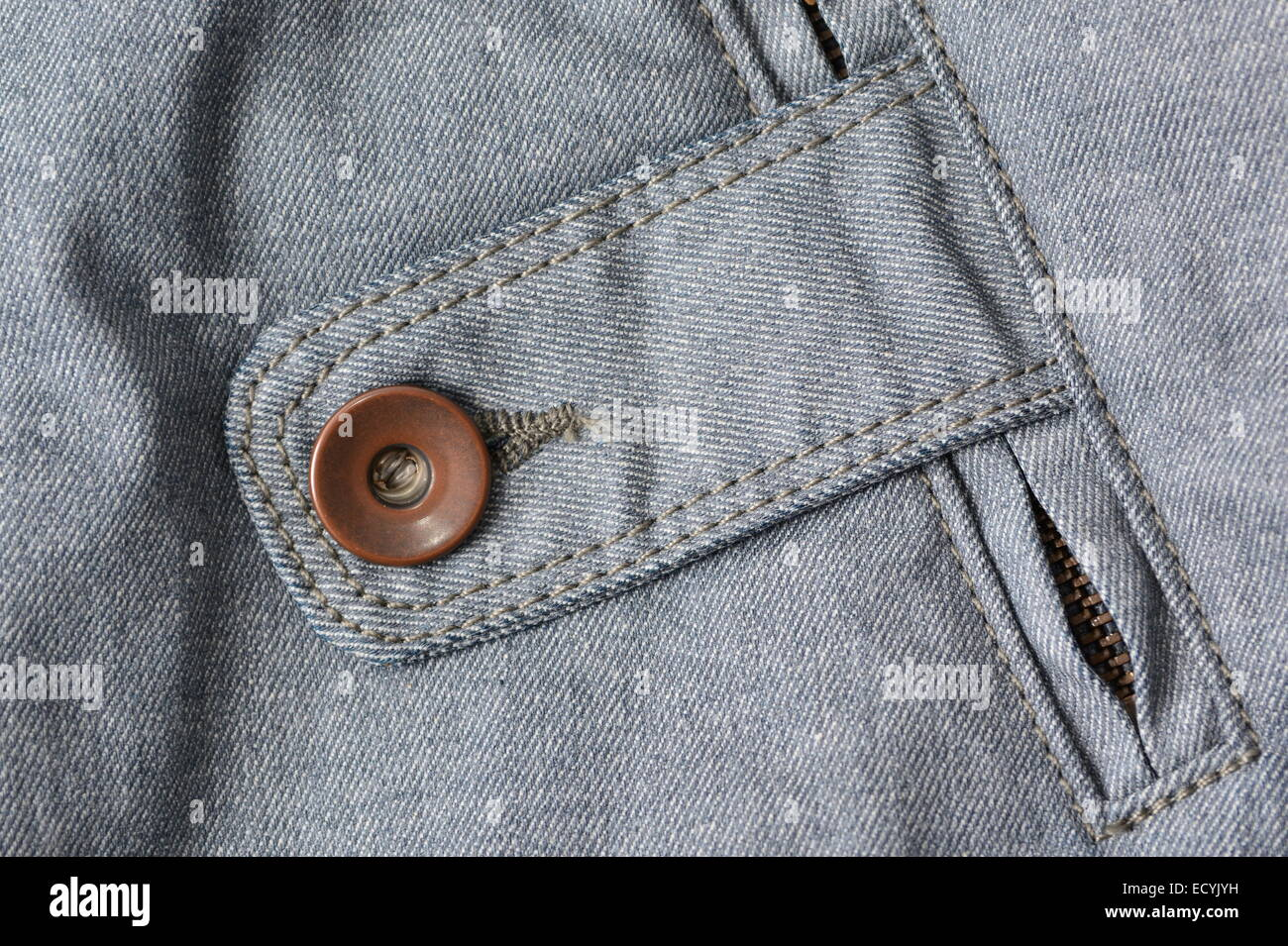 Detail of denim fabric, background - Stock Image