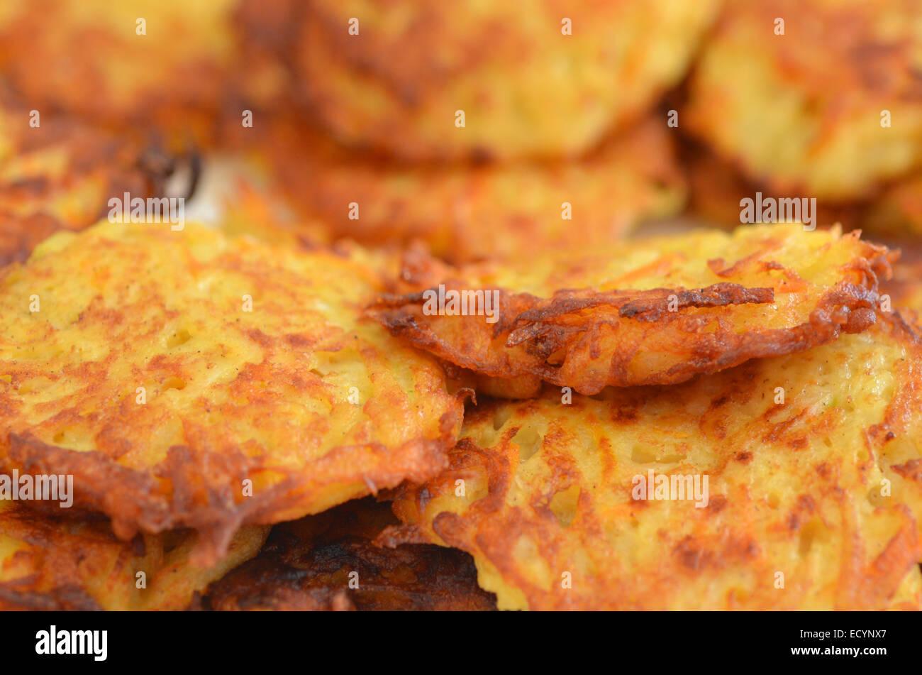 Potato latke for Hanukkah Jewish Holiday. - Stock Image