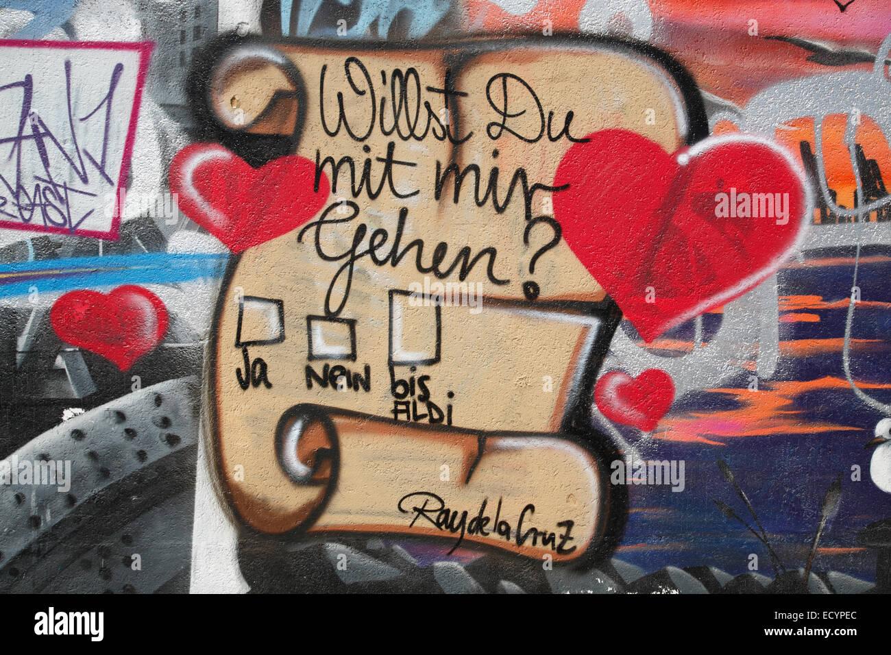 Graffiti, St. Pauli, Hamburg, Germany, Europe - Stock Image