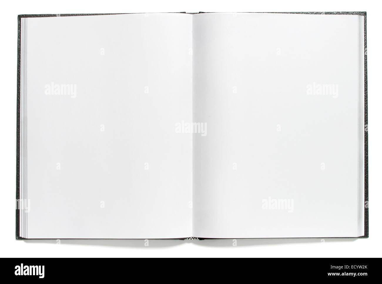 open blank journal - Stock Image