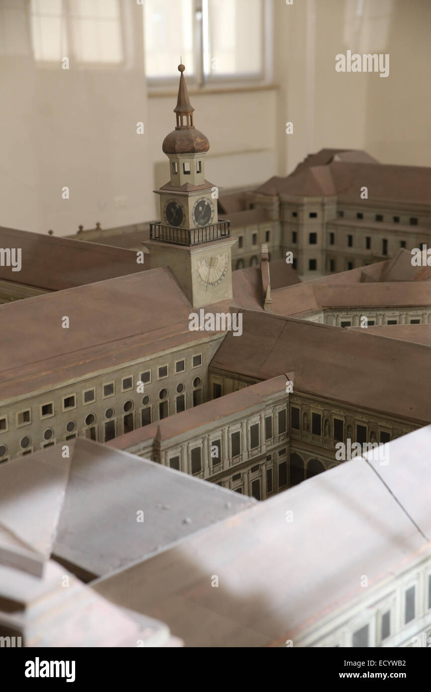 Munich residenz model mini figure - Stock Image