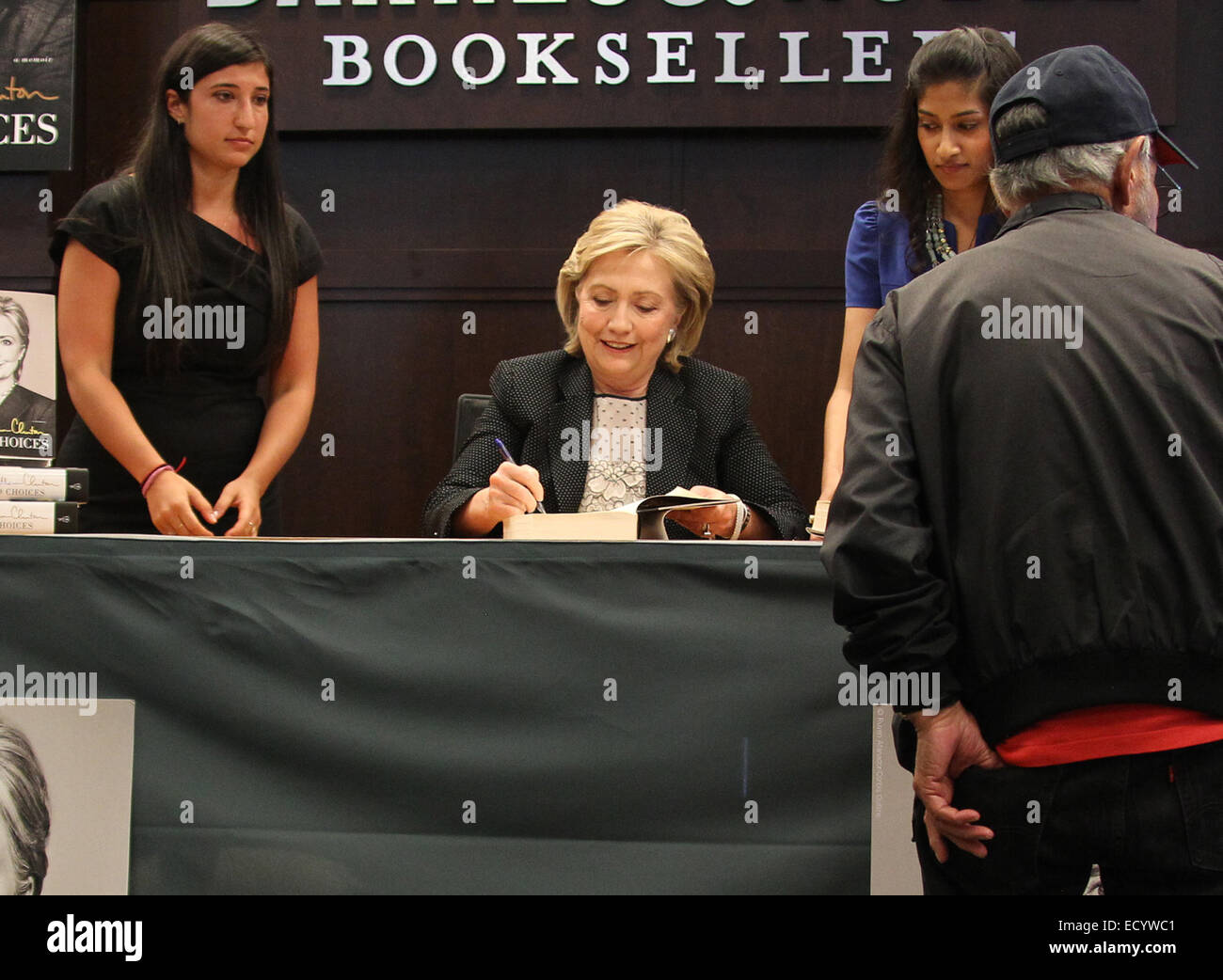 Hillary Rodham Clinton's book signing event, held at Barnes