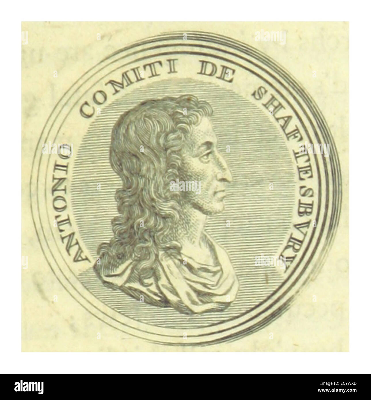 DRYDEN(1760) p1.247 Anthony Ashley-Cooper, 3. Earl of Shaftesbury - Stock Image