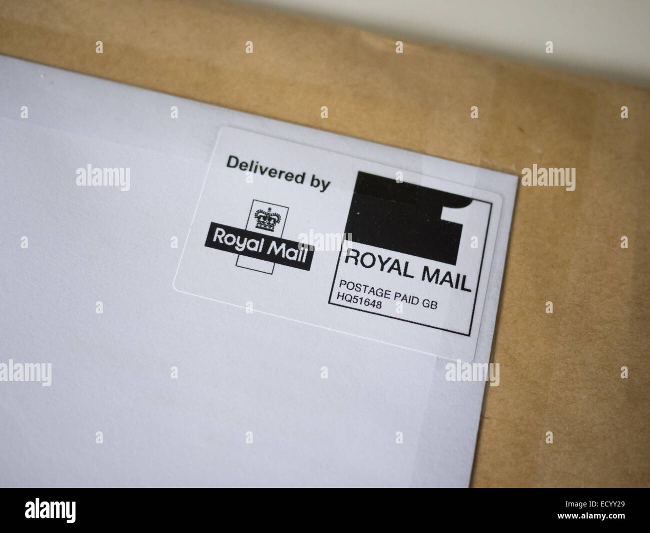 royal mail letter postage paid stamp