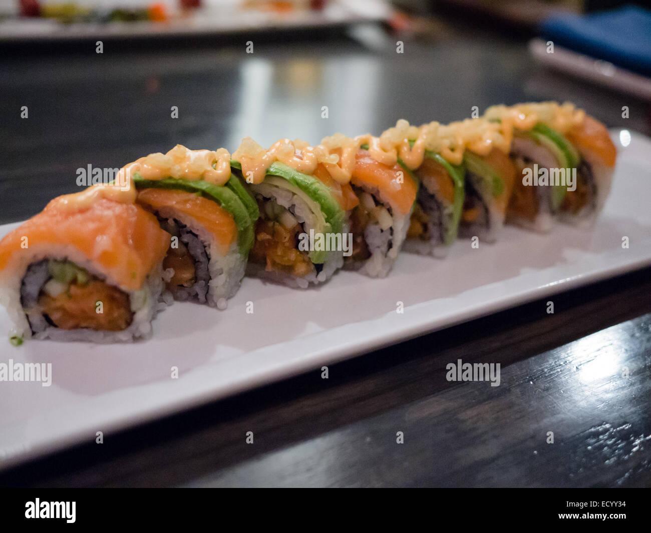 Japanese Sushi roll - Stock Image