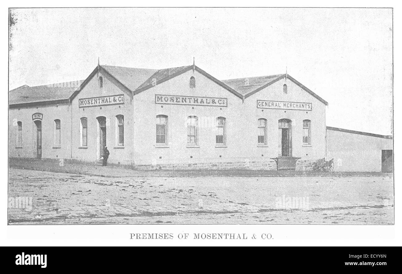 EL1893 pg077 Premises of Mosenthal and Co - Stock Image