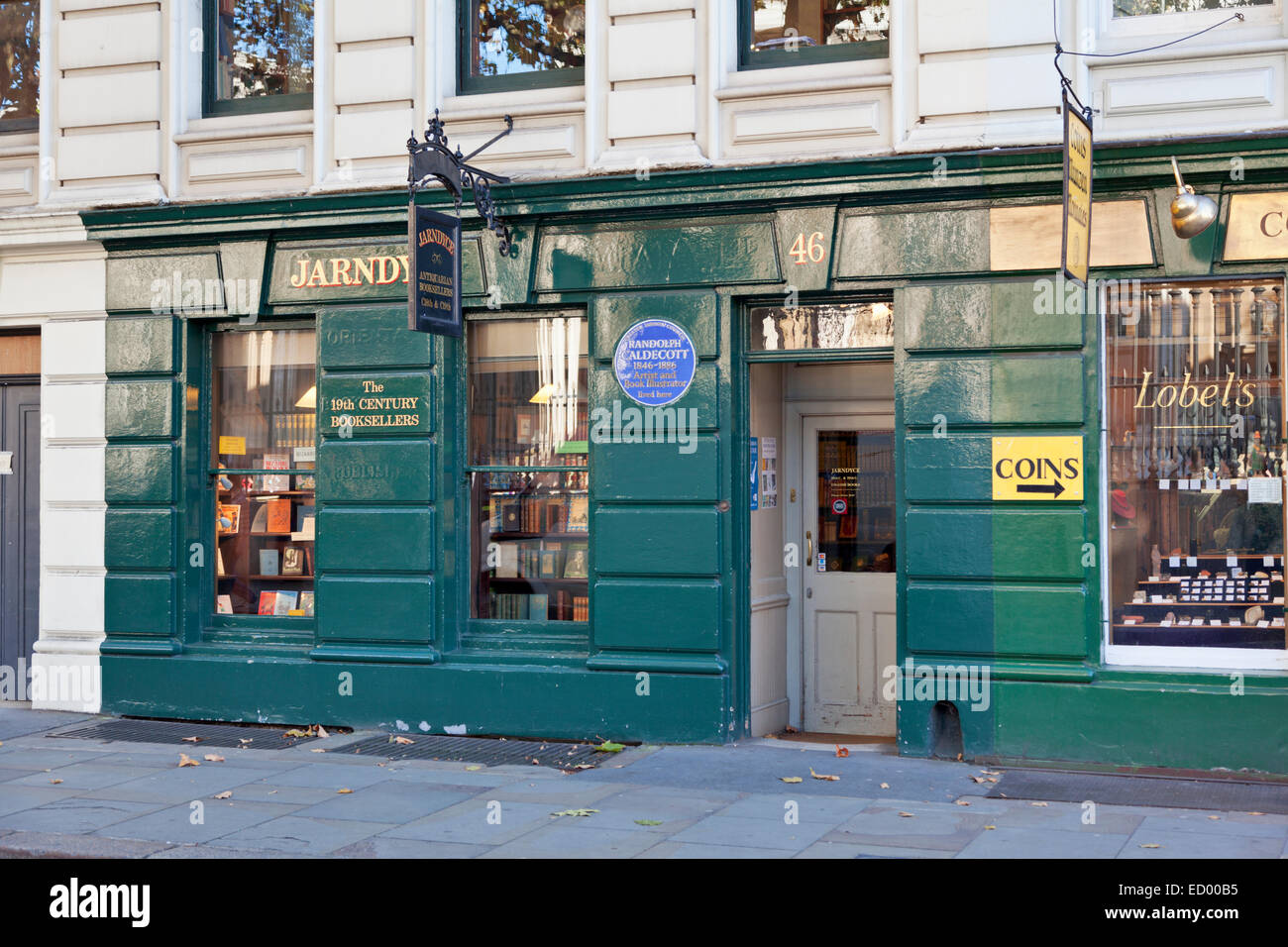 Jarndyce Book Shop - The 19th Century Bookseller - Stock Image