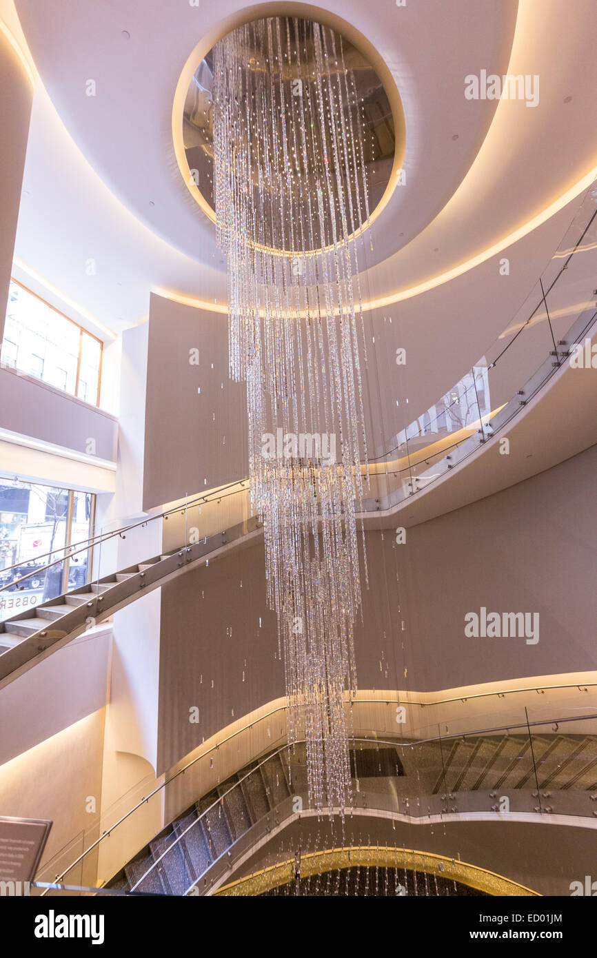 The Joie Crystal Water Fall Chandelier In The Grand Atrium