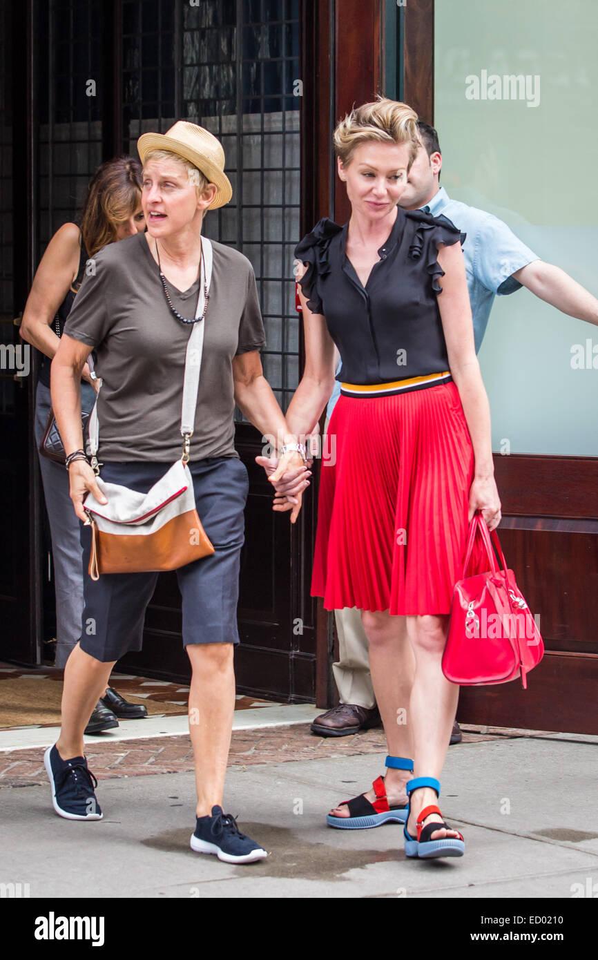 Ellen Degeneres And Her Wife Portia De Rossi Leaving A