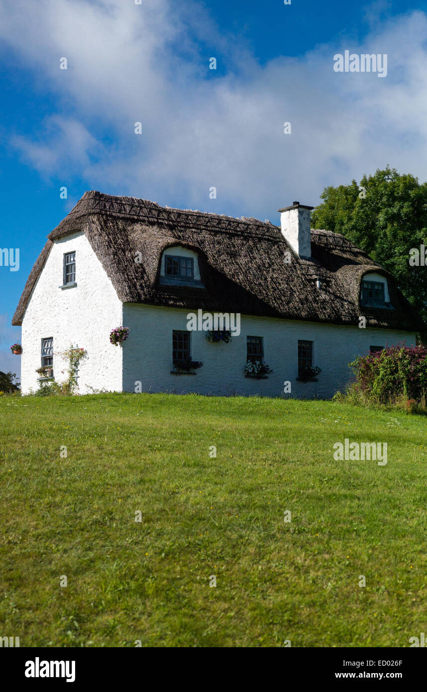 Ireland, Calway county, traditional country houses in the Dunguaire castle area - Stock Image