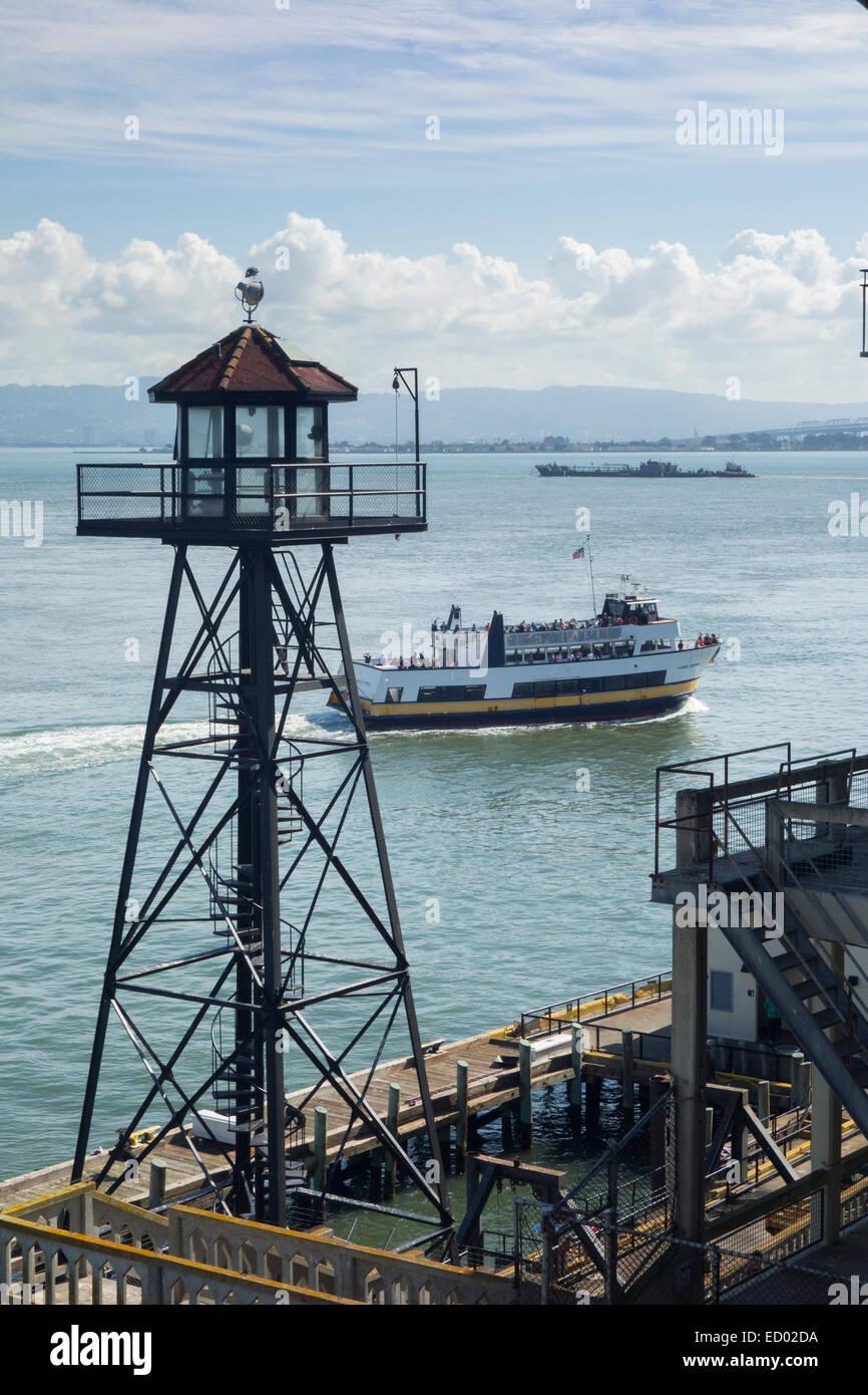 Alcatraz island national park in San Francisco CA - Stock Image