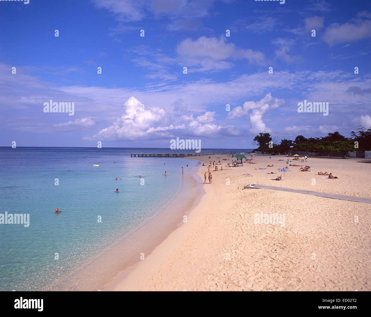 Doctor's Cave Beach Club, Montego Bay, St James Parish, Jamaica, Greater Antilles, Caribbean - Stock Image