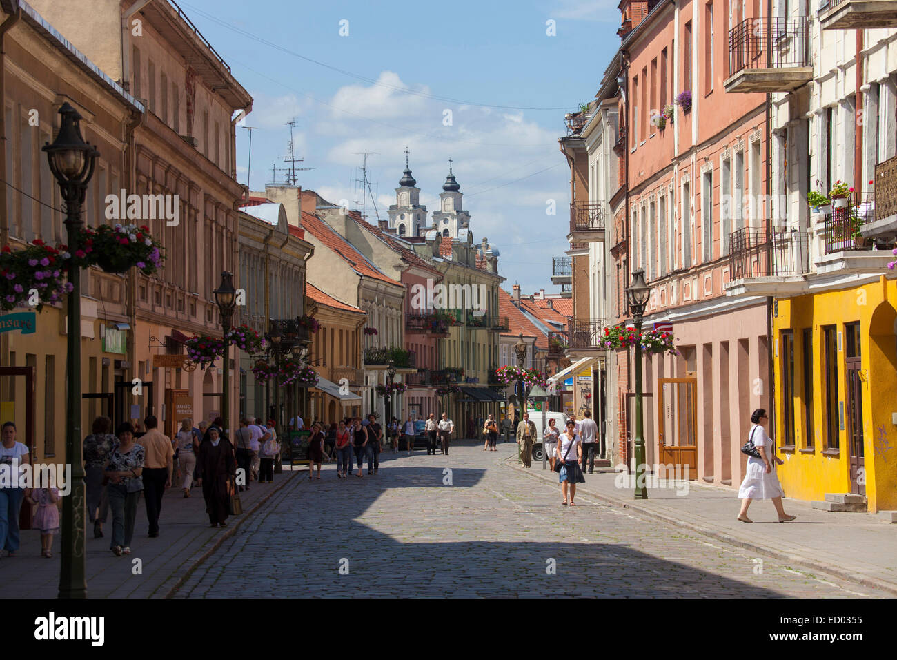 Lithuania, Kaunas, center city. - Stock Image