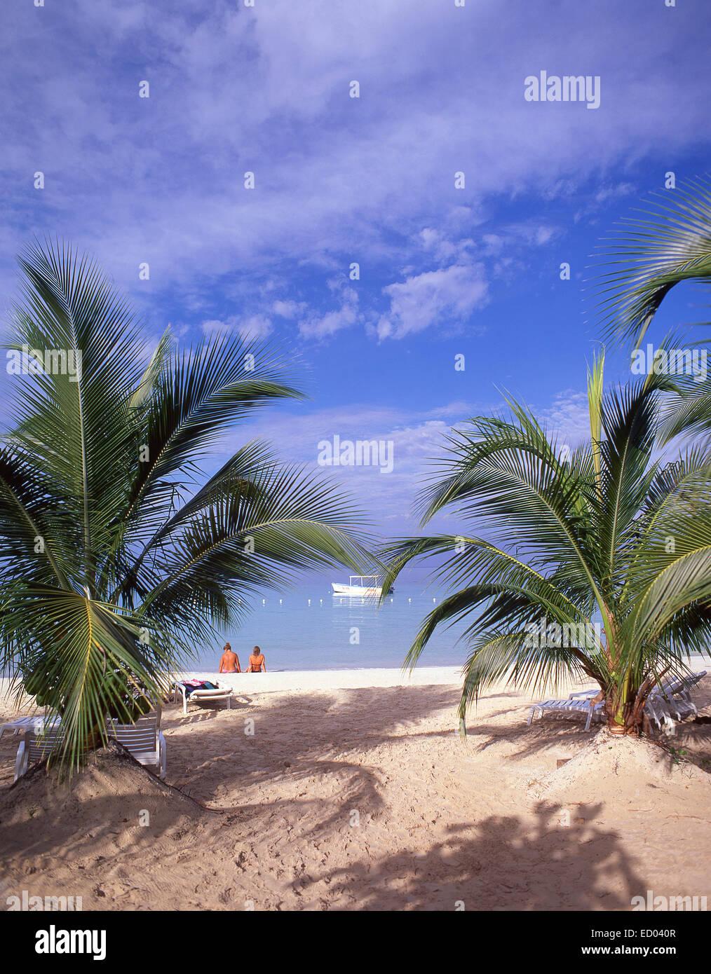 Negril Beach, Negril, Westmoreland Parish, Jamaica, Greater Antilles, Caribbean - Stock Image
