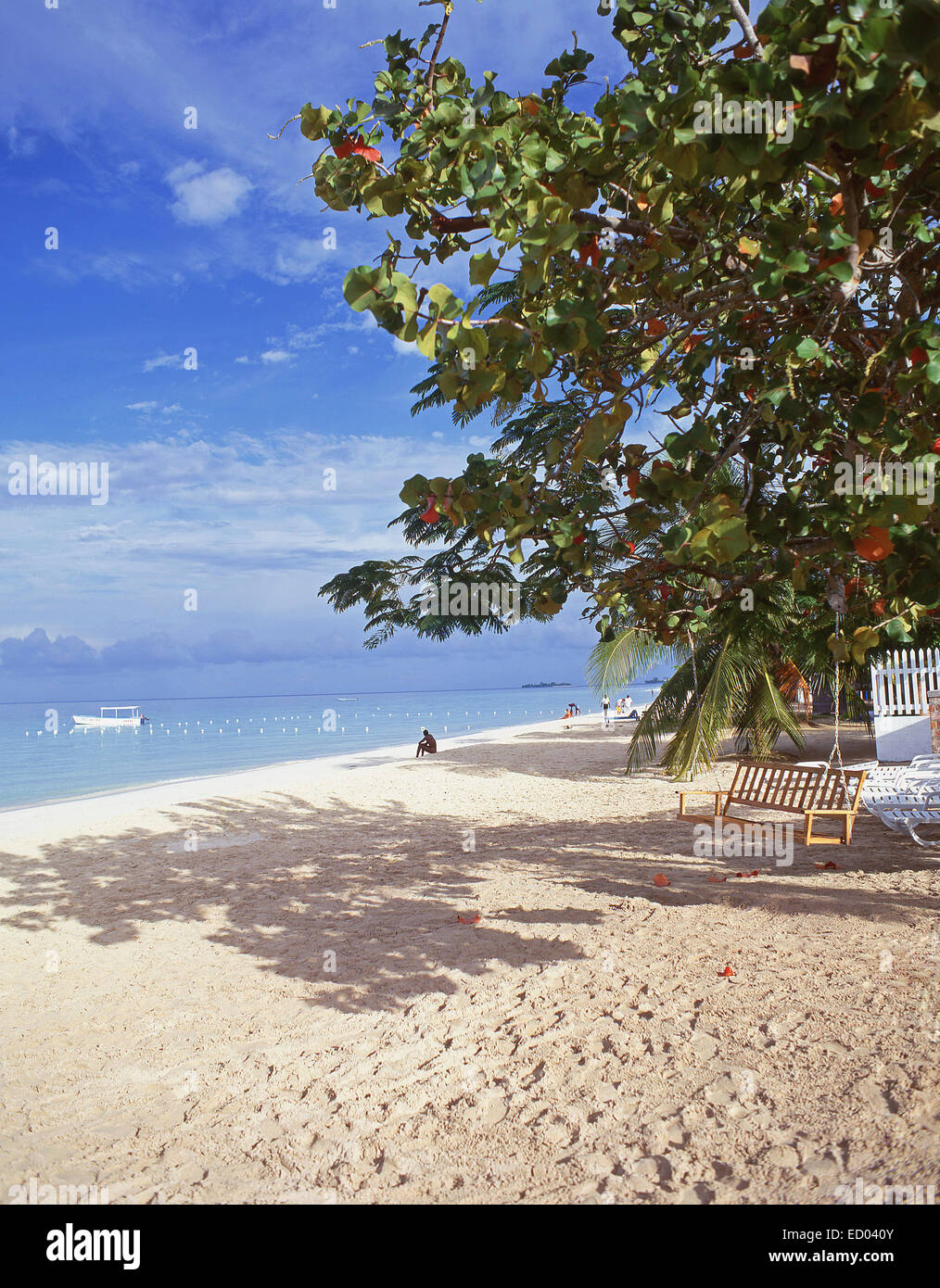 Negril Beach, Negril, Westmoreland Parish, Jamaica, Greater Antilles, Caribbean Stock Photo