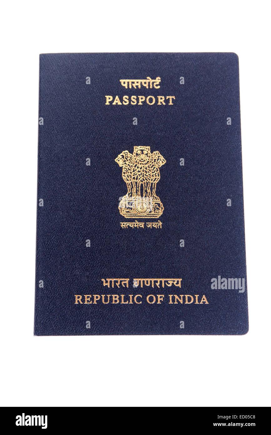 indian Travel  Passport nobody Stock Photo