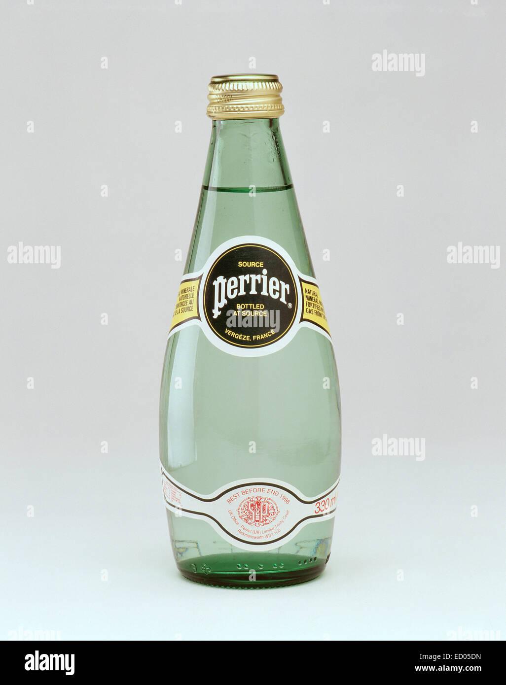 Bottle of Perrier (still life), Berkshire, England, United Kingdom - Stock Image