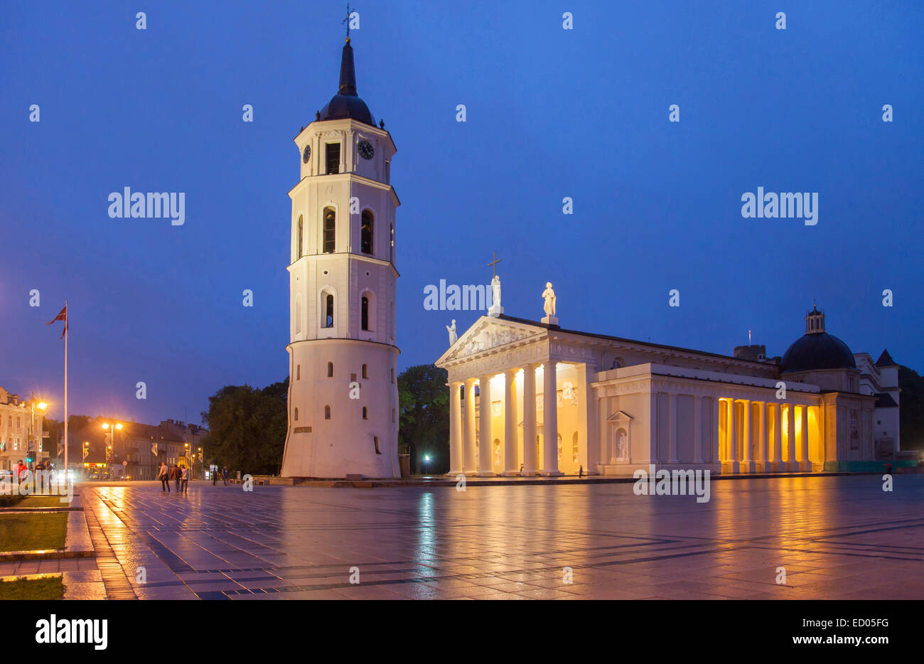 Lithuania, Vilnius, Cathedral. - Stock Image