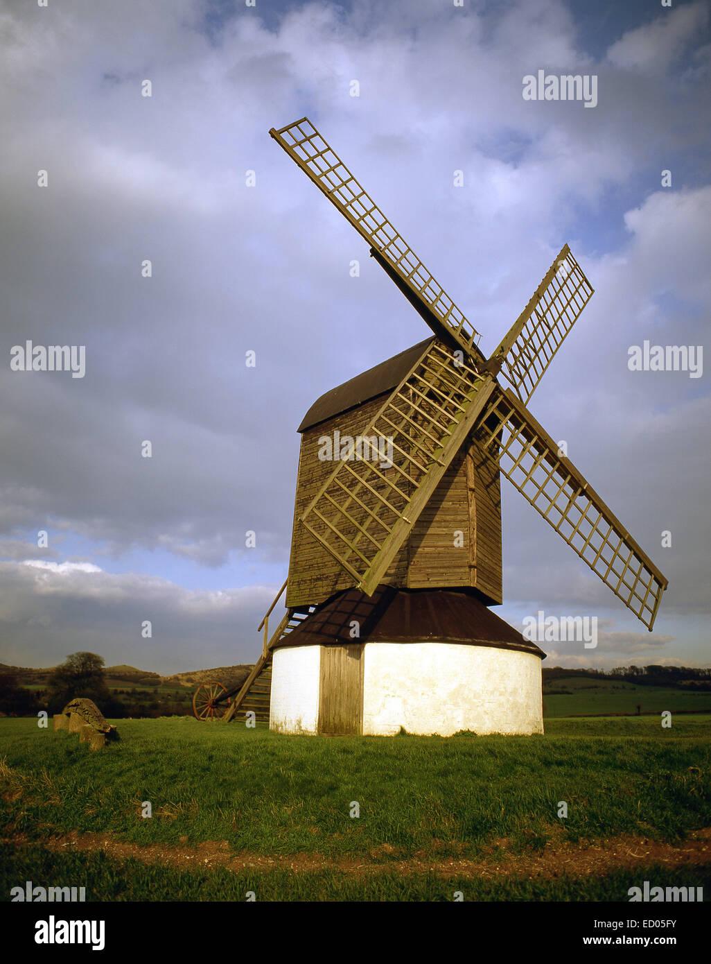 Pitstone Windmill, Pitstone, Buckinghamshire, England, United Kingdom - Stock Image