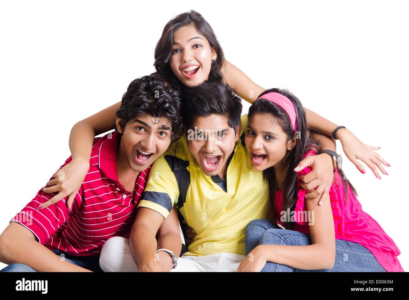 indian college Friends Mischief - Stock Image