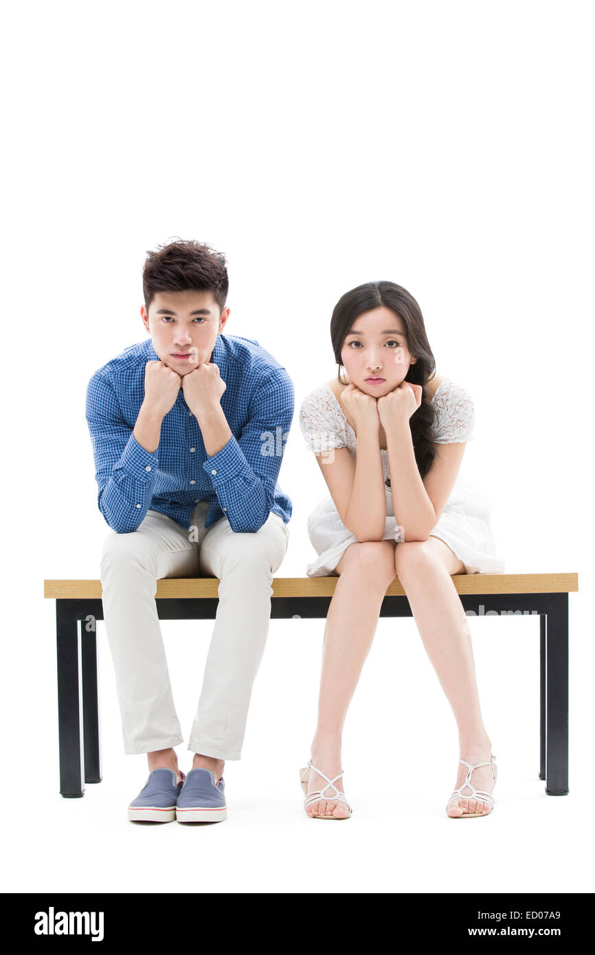 Portrait of young couple - Stock Image