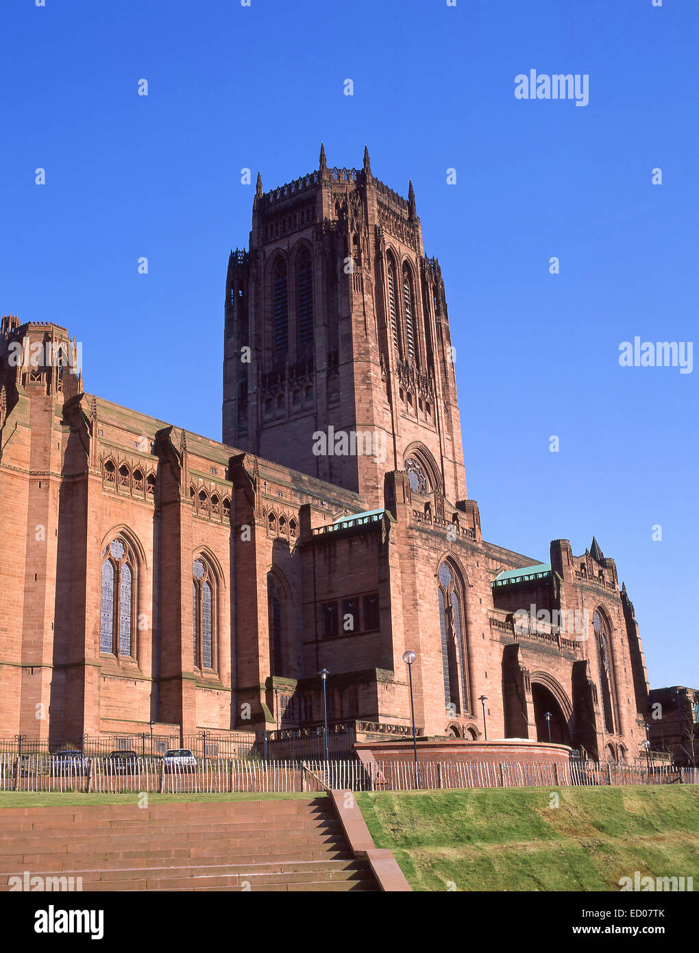 Liverpool Cathedral, St James's Mount, Liverpool, Merseyside, England, United Kingdom - Stock Image