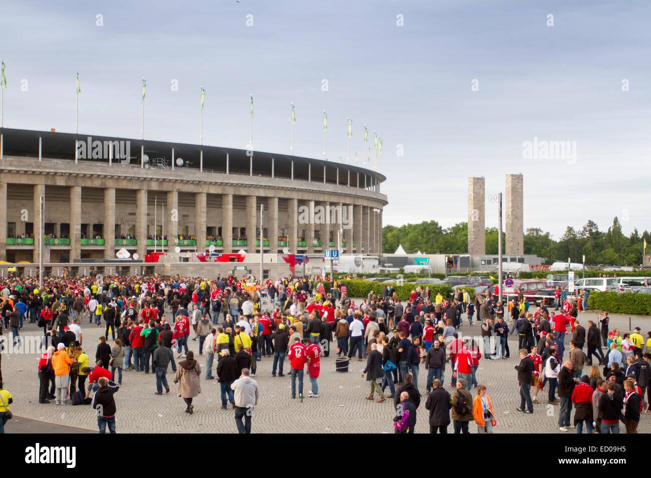 Olympiastadion, Berlin, Germany. - Stock Image