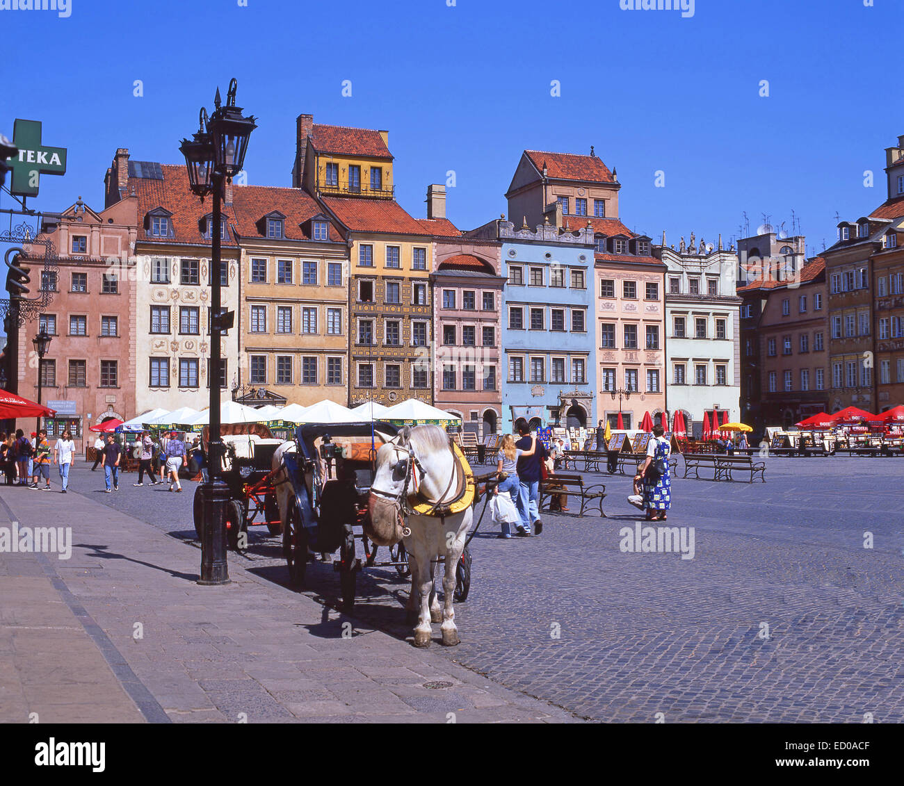 Old Town Market Place, Old Town, Warsaw (Warszawa), Masovia Province, Republic of Poland - Stock Image