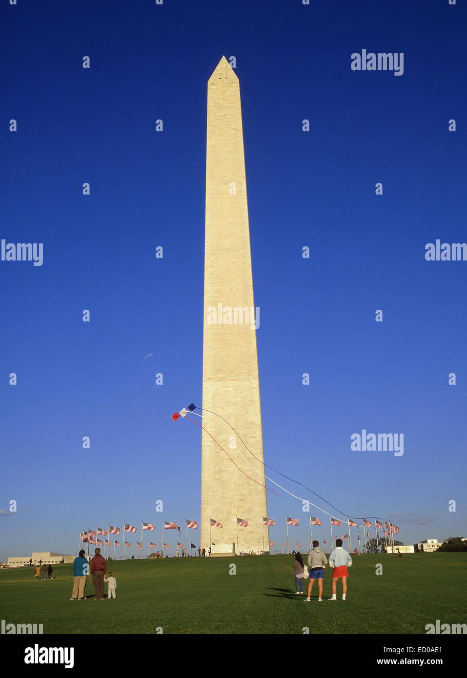 Washington Monument, National Mall, Washington DC, United States of America - Stock Image