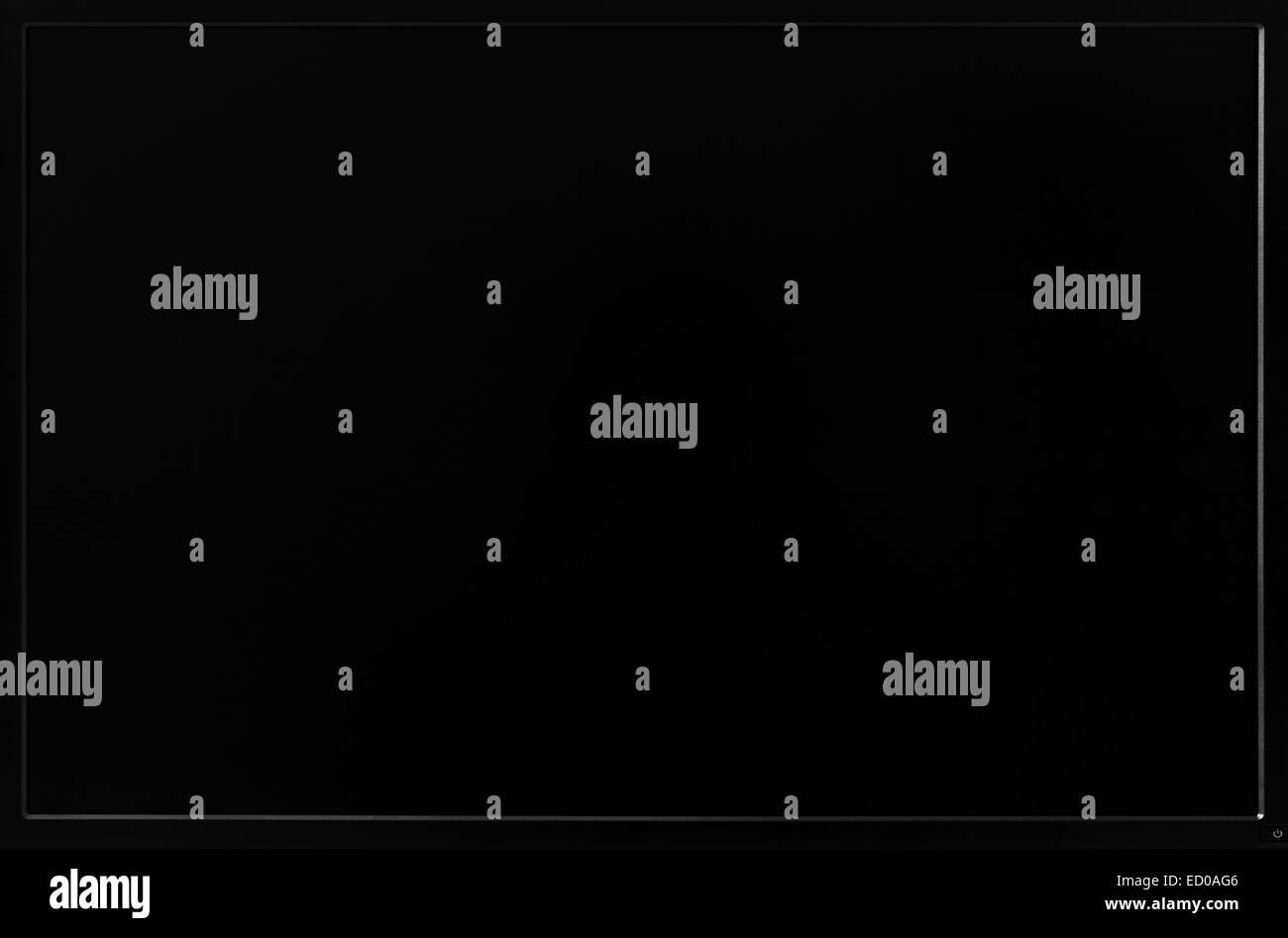 Photo of black LCD computer monitor screen. - Stock Image