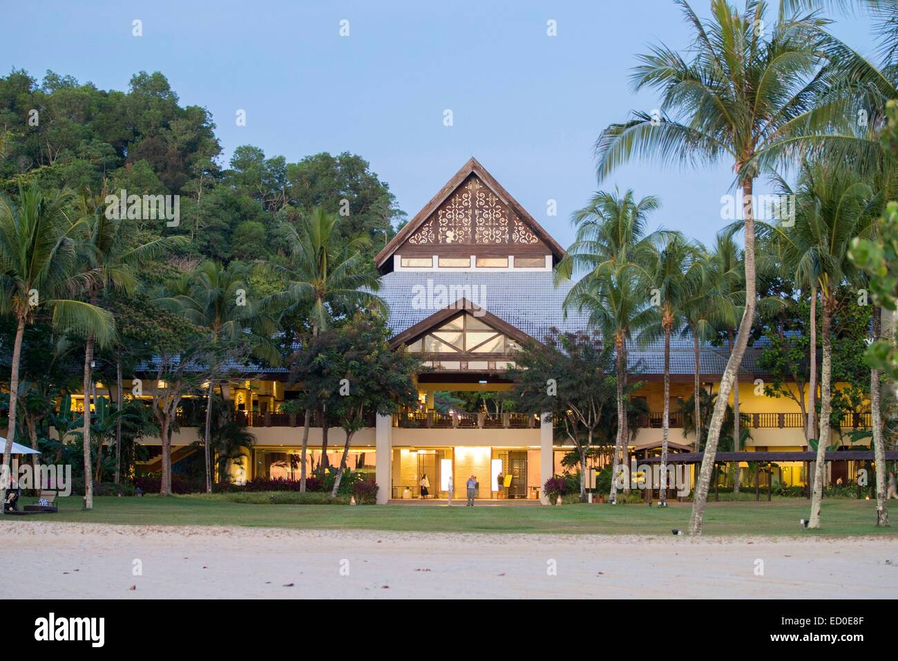 Malaysia, Sabah state, Kota Kinabalu, Shangri-La Resort - Stock Image