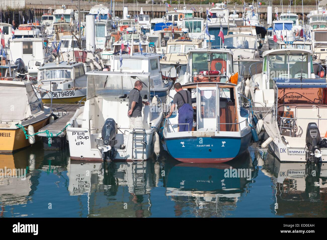 France, Nord, Dunkirk, boats in the marina Stock Photo