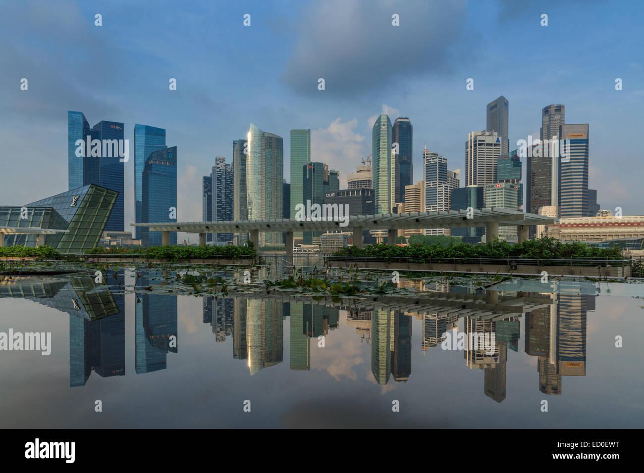 Singapore, Modern city skyline - Stock Image
