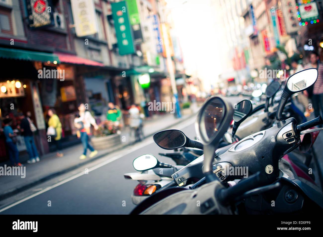 Taiwan, Taipei, Street view - Stock Image